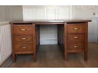 Traditional wooden partner desk