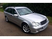 Mercedes - Benz kompressor c class c180 1.8 petrol 2004 manual 5dr SILVER estate classic 1800
