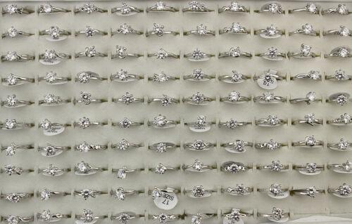 Wholesale Jewelry Lots 32pcs Mixed Clear Fashion Cubic Zirconia Lady