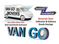 VAN GO MOVERS: From Single Items Delivery to Full House & Flat Removals in Bath, Driver/Man and Van