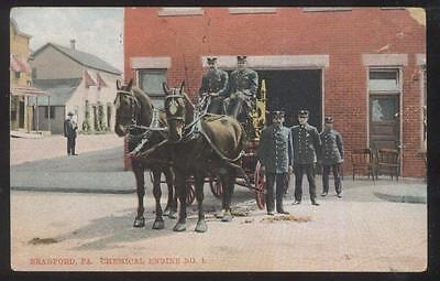 Highspire Historical Postcard First Motorized Fire Truck 1914