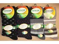180 Pairs Mens Assorted Colours Non Elastic Loose Top Diabetics Cotton Socks Wholesale Job Lot Stock