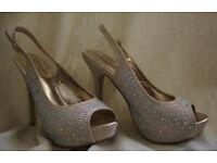 Poze High Heels - UK 6, EU 39 - Peep Toe - Fancy