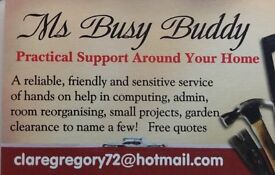 Ms Busy Buddy - Handywoman - Reliable and Friendly Practical Support around the Home and Garden