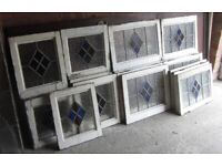 Large Number of stained glass windows. All framed. No breaks! Pickup welcome
