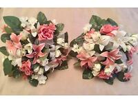 TWO BEAUTIFUL ARTIFICIAL WEDDING BOUQUETS FLOWER GIRL BRIDESMAID