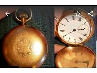 9ct gold pocket watch