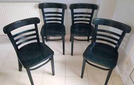 4 x solid chairs