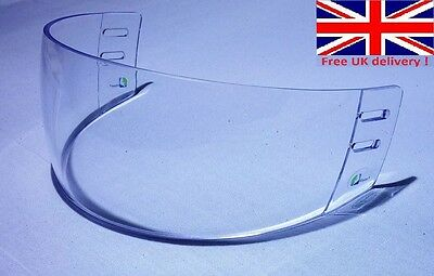 High Quality Classic Cut Pro Ice Hockey Visor Clear anti-fog anti-scratch Vision Anti Fog Hockey Visor