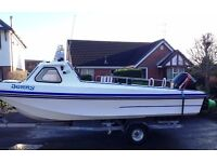 ***REDUCED*** 17ft Pilot Fast fisher boat. Ready to go, just add petrol and number plate.
