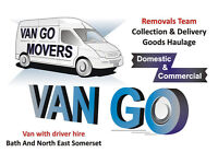 VAN GO MOVERS: House & Flat Removals in Bath, Single Items, Furniture Delivery, Driver/Man and Van