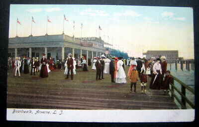 Used, ARVERNE Rockway Long Island Queens, NY, Drugstore 1900s view of the BOARDWALK  for sale  Shipping to Canada
