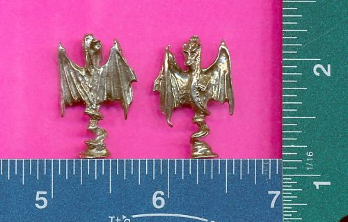 100 wholesale pewter winged dragon figurines m11093
