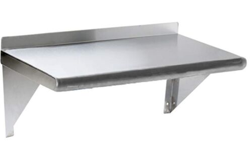 Commercial Stainless Steel Wall Mount Shelf 12 x 24 - NSF
