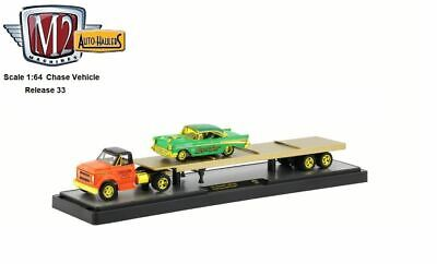M2 Machines Auto Haulers 1:64 Scale 1971 Chevy C60 Truck & 1957 Bel Air CHASE