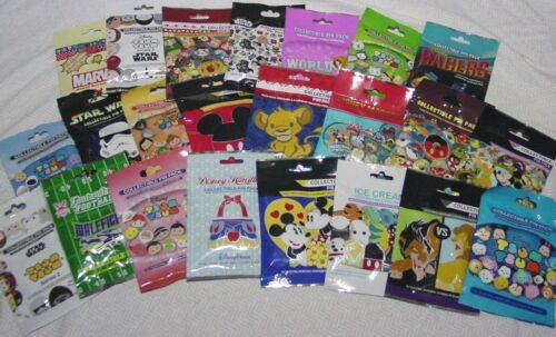 Disney Trading Pins 15 Pin Set! MYSTERY PACKS Random 5 Packs LOT of 3 MY CHOICE!