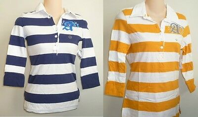 Womens AEROPOSTALE Jersey Striped Rugby Polo Shirt NWT #4064
