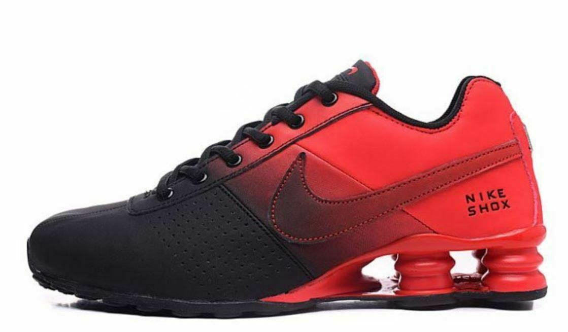 magasin d'usine 41574 6d669 MENS RED & BLACK NIKE SHOX ATHLETIC RUNNING SHOES SIZES 7-11