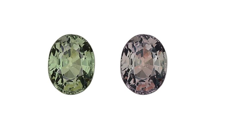 GIA  natural color change Alexandrite 0.83 ct oval Slightly Included