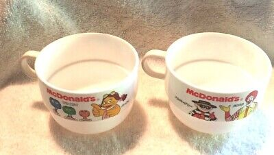 VINTAGE ADVERTISING FAST FOOD MCDONALD'S PLASTIC CUPS JAPANESE STACKABLE RONALD