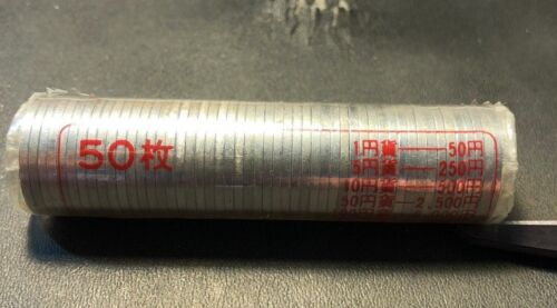 Vintage Japan Coin Lot  - 50 YEN - JAPANESE MINT ROLL - 50 Coins - FREE SHIPPING