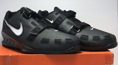 san francisco 296b2 b4f22 Nike Mens Size 18 Romaleos 2 Weightlifting Powerlift Black Shoes 476927-010