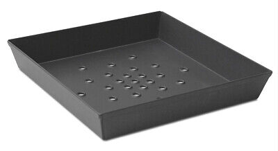 Aluminum Anodized Aluminum Pizza Pan - Deep Dish Pizza Pan With Hole 12 Inch Square Bottom Non-Stick Anodized Aluminum