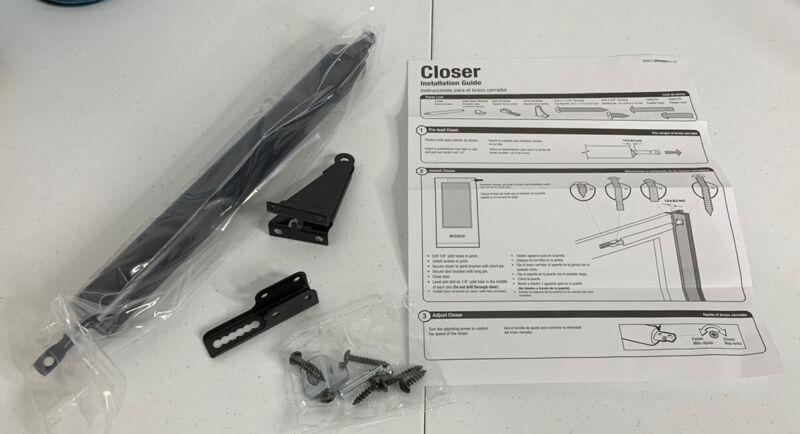 Comfort Bilt Pneumatic Screen Door CLOSER, HW & INSTR. ONLY Palm Beach C0271042