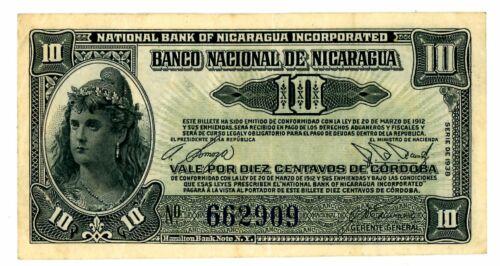 Nicaragua ... P-79 ... 10 Centavos ... 1938 ... Choice *VF-XF*.