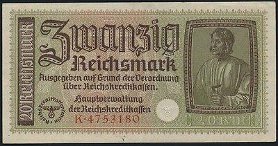 Ro.554a Reichskreditkasse 20 Reichsmark (1939) (2)