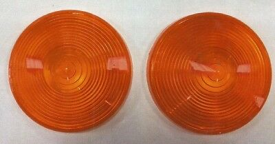 2 4-12 Vintage Amber Lens Will Fit Kubota Bx23 Tractor..sae-1st-88-d.0.t.
