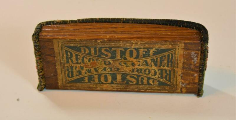 Antique Dustoff Record Cleaner Brush Minute Shine Co. Providence, RI