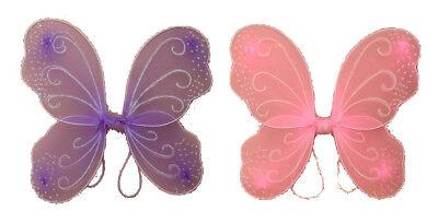 Flügel Schmetterling Fee Engel Kostüm Schmetterlingsflügel rosa lila NEU