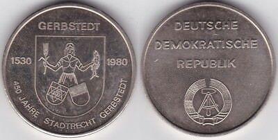 Hettstedt-Medaille Gerbstedt 450 Jahre Stadtrecht 1980 nicht magnetisch