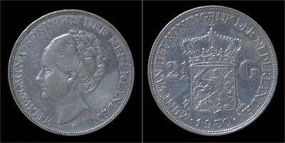 Nederland Wilhelmina I 2 1/2 gulden(rijksdaalder)1930