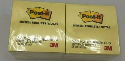 3m Post-it Notes 3 X 3 In Canary Yellow 100-sheet 12pack Total 1200