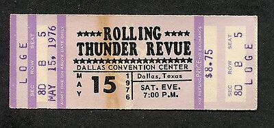 Bob Dylan 1976 Rolling Thunder Revue Unused Concert Ticket Dallas Tx Desire