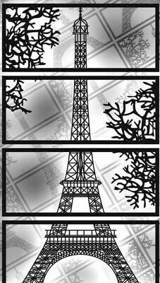 Model Vector Laser Cutting File Dxf Cdr Ai Torre Eiffel Decorative