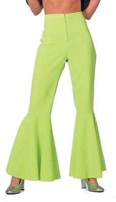 Neon-grüne Schlaghose Grace NEU - Damen Karneval Fasching Verkleidung Kostüm