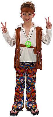 60's Bobby Hippie Boy Kinderkostüm NEU - Jungen Karneval Fasching Verkleidung Ko (Kinder Jungen Hippie Kostüme)