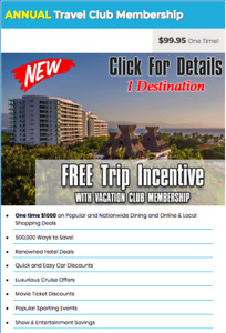Free trip incentive for 99,95$