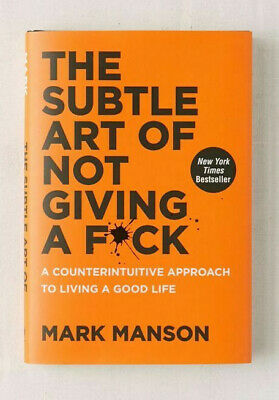 The Subtle Art of Not Giving a F*ck: (hardcover) - FAST SHIPPING