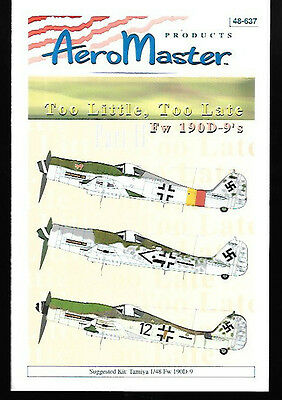 Aeromaster Too Little Too Late Focke Wulf Fw 190D-9 Part 2 Tamiya 1/48 AN48637
