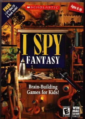 I SPY FANTASY Brain Busting Games for Kids New in Box with Free Mini CD and Book