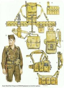 WWII US uniforms and field gear, original and reproduction
