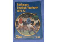 Rothmans Football Yearbook 2nd Year 1971 - 72 (Price Drop)
