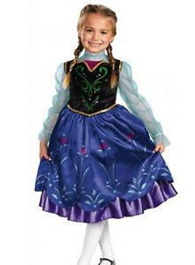UK-STOCK-Frozen-Dress-Princess-Elsa-Anna-blue-black-ages-costume-girls-kids