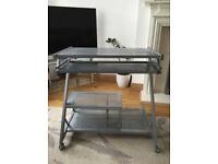 Silver Metallic PC Desk - Trolley