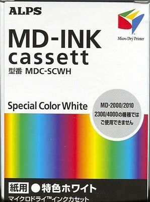 Alps MD Printer Ink Cartridge - White  MDC-SCWH - Replaces 106050-00