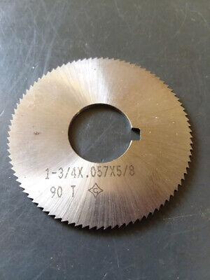 ".013/"" Thick x 1-3//4/"" Diameter x 1//2/"" Arbor Hole 90 Teeth HSS Screw Slotting Saw"